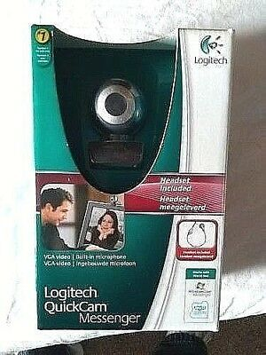 Logitech QuickCam Messenger Built In Microphone Headset Included