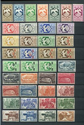 FRENCH AFRICA EQUATORIALE Early MH COLLECTION 130 Stamps