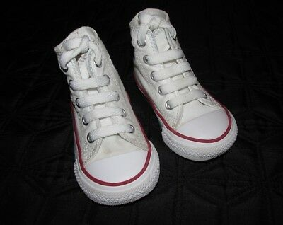 7e48b6a5c832 CONVERSE BABY GIRL   Boy High Top Trainers White Infant Size 4 ...