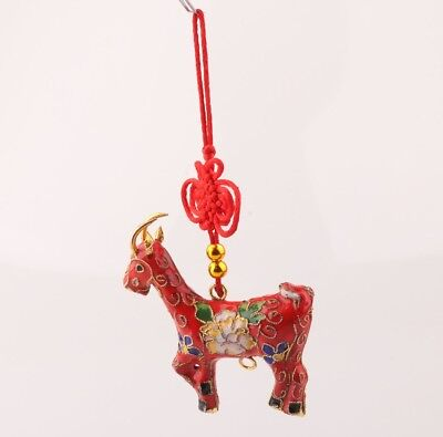 China Rare Cloisonne Hand-Carved Giraffe Statue Pendant Christmas Decorations