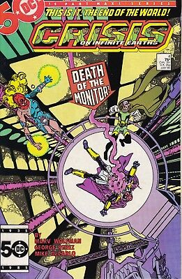 CRISIS ON INFINITE EARTHS #4 (July 1985) DC Death of the Monitor NM 9.4