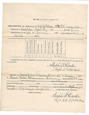 Civil War document signed twice by Medal of Honor recipient Joseph F. Carter