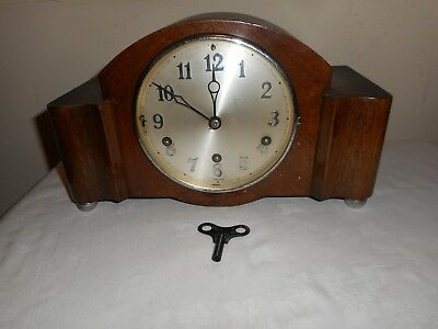 H A C Westminster Chimes Mantle Clock in Fantastic Original Condition & Working.