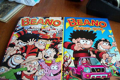 2 The BEANO ANNUALS 2007 & 2009 PRICES NOT CLIPPED VERY GOOD CONDITION