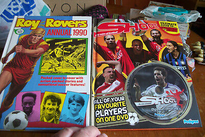 ROY OF THE ROVERS  1990 ANNUAL & SHOOT VOL.1 with DVD EXCELLENT