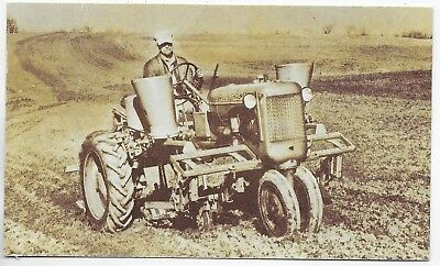 (#3194) 1947 Advertising Postcard  The Allis Chalmers  Model C Tractor  Plowing