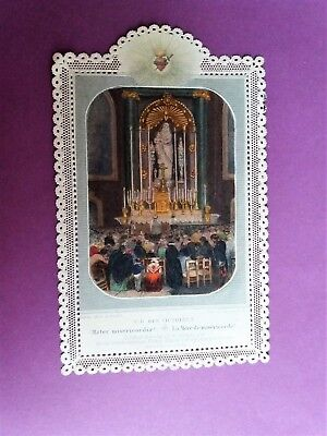 CANIVET-IMAGE PIEUSE DENTELLE-HOLY CARD-SANTINO-LETAILLE-N.D. des Victoires