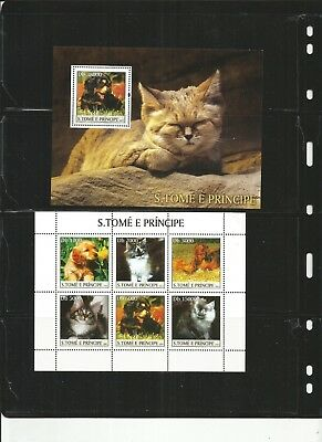 St Thomas And Prince Island Cats And Dogs Mnh