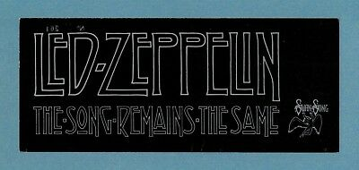 Led Zeppelin Rare Song Remains The Same New York Original Movie Premiere Ticket