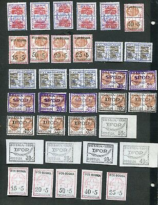 Stamp Lot Of Nato Russia  Ifor And Sfor Forces In Bosnia