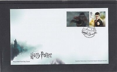 GB 2018 Harry Potter Collector Sheet stamp + tab Harry Potter FDC Bedford spec p
