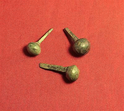 Lot of 3 Ancient Roman Nails