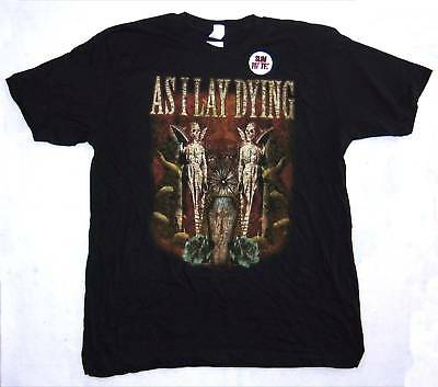 As I Lay Dying! Coffin Twin Angels Blk Kids T-Shirt Youth Med New