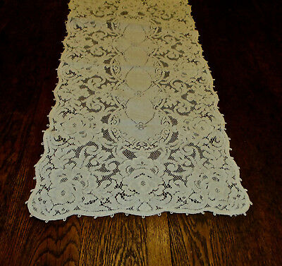 """Quaker Lace Style Table Mantle Buffet Piano Runner Dresser Scarf 15"""" by 45"""" Long"""