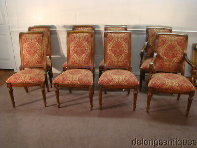 49193:Ethan Allen Cherry Set of 8 Dining Chairs