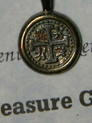 PENDENT FASHIONED FROM SILVER BAR 1622 SUNKEN SHIP ATOCHA TREASURE #2731 glb