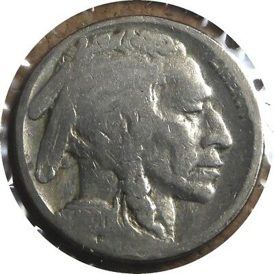 elf Indian Head or Buffalo  Five Cents 1920 S