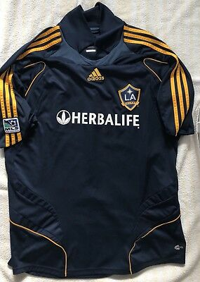 d10ab5b1261 LA GALAXY SOCCER JERSEY ADIDAS Sz XL HERBALIFE FOOTBALL LOS ANGELES MLS  Zlatan