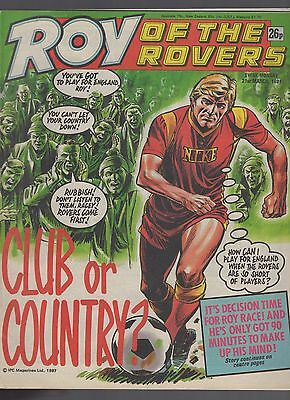 (-0-) ROY OF THE ROVERS COMIC 21st march 1987