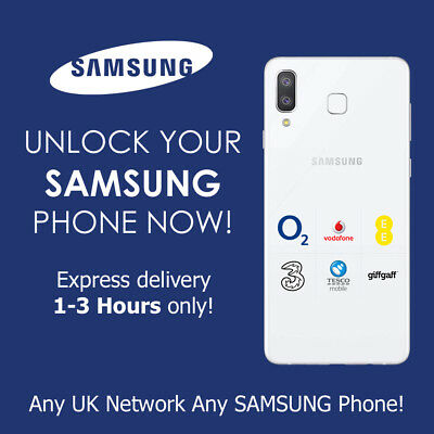 Samsung Unlock Code Fast Service Note 9 S9 S8 Plus S7 Edge S6 All Uk Network