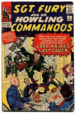 Sgt. Fury and His Howling Commandos #4 Marvel Comics 1963 GD- 1.5