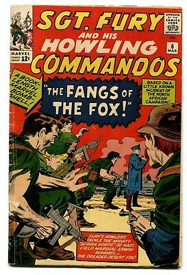 Sgt. Fury and His Howling Commandos #6 Marvel Comics 1964 GD+ 3.0