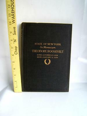 Antique 1919 State Of New York A Memorial To Theodore Roosevelt