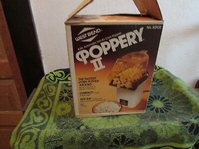 New, Unused. Vinage West Bend Poppery Ii Hot Air Corn Popper # 82102.