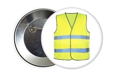 Badge Button 38 mm Pass Le Gilet Jaune Les Gilets Jaunes France 2018