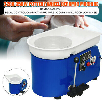220V 350W Pottery Wheel Ceramic Work Machine Clay Art Craft +Foot Pedal