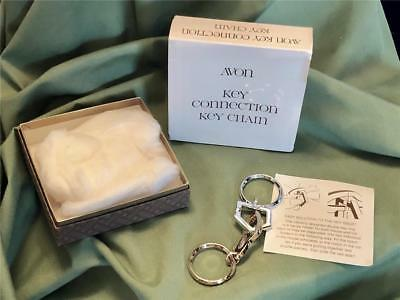 Vintage Avon Key Connector Key Chain With Original Box Car And House Avon 1980