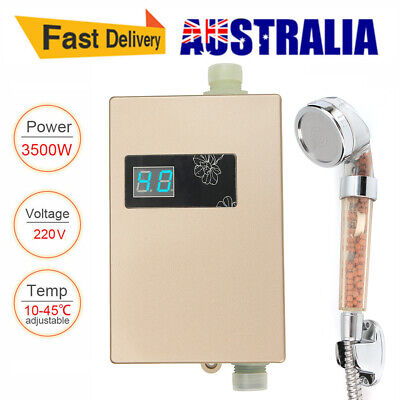 3000W Instant Hot Electric Water Heater Portable Shower Camping Hot Water System
