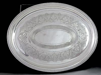 Antique 1867 REED & BARTON Silverplate ENGRAVED SERVING TRAY