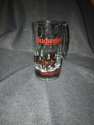 Budweiser King of Beers Clydesdale 1992 Holiday Beer Stein-Excellent Condition