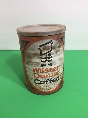 VINTAGE MISTER DONUT COFFEE CAN 16oz . EMPTY