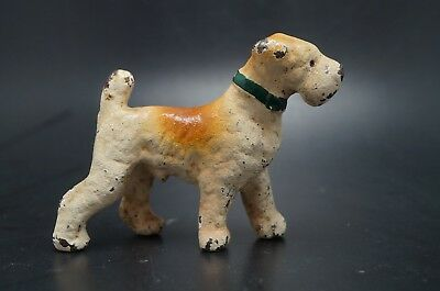 VTG Painted HUBLEY Cast Iron Party Favor Irish AIREDALE TERRIER Dog