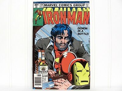 Vintage Marvel 1979 No. 128 IRON MAN Alcoholic Key Issue Demon in a Bottle Nice!