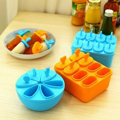 Silicone Block Pole Lolly Ice Cream Popsicle Maker Mold Frozen Mould DIY Tool AU