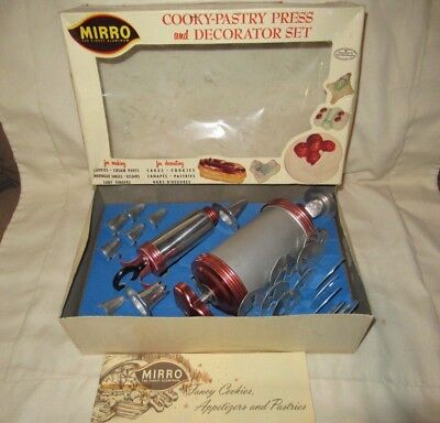 Mirro Cooky Pastry Press & Decorator Set 350-M With Box & Instructions Looksnu