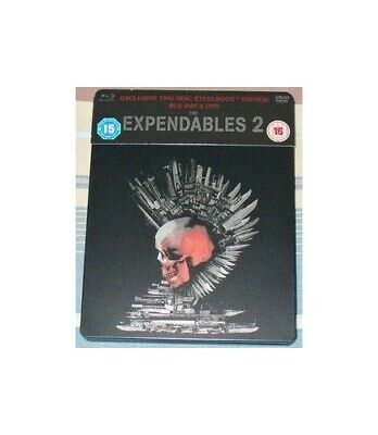 THE EXPENDABLES 2 BLU RAY STEELBOOK - DVD  HUVG The Cheap Fast Free Post
