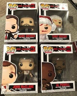 Funko Pop! Movies Die Hard Set of 4 John McClane Hans Gruber Al Powell Vreski