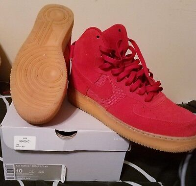 competitive price f2242 80dde Nike Air Force 1 HIGH 07 LV8 GYM Red Gum Bottom Mens Sneakers Sz 10 806403