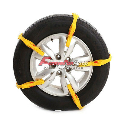 10 PCS Snow Tire Chain for Car Truck SUV Anti-Skid Emergency Winter Driving