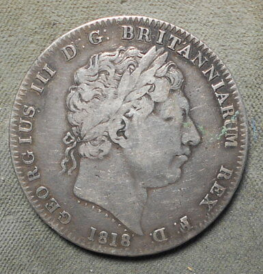 Great Britain 1818 LIX One Crown KM-675 Silver