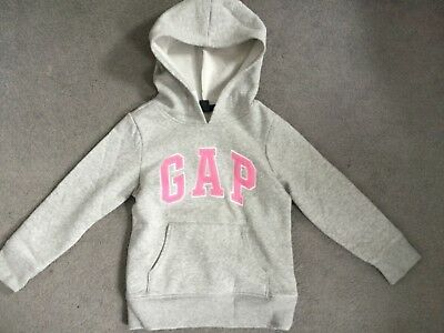 Gap  - Light Grey Hoodie With Pink Logo Across Front & Fleece Interior - Bnwt
