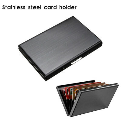 RFID Blocking Wallet Slim Secure Stainless Steel Contactless for 6 Credit Cards