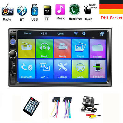 "7"" 2DIN Autoradio Bluetooth 1080P Car Stereo FM Touch MP5 Player USB AUX Kamera"