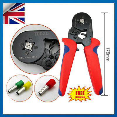 0.25-6mm² Bootlace Ferrule Hand Wire Cord End Crimper Crimp Crimping Pliers Cut