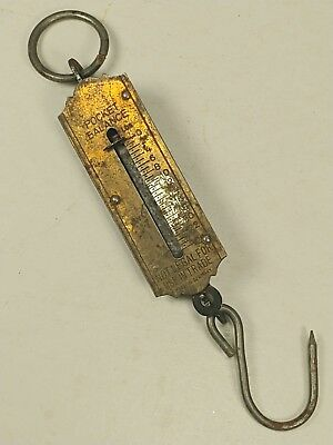 25 pound lbs. Germany Pocket Balance Scale Brass Rare Vintage Antique Old