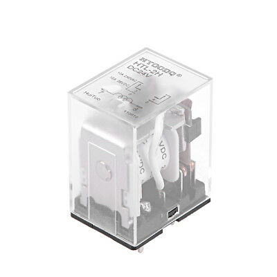 DC24V Coil 6Pin DPDT Clear Plastic Case Power Relay  HTL-2H